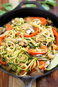 Veggie Fajita Noodles + 12 More Low Carb Spiralizer Ideas