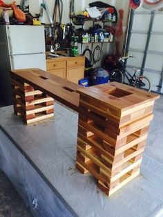 Western Red Cedar planter/bench based on another plan that I saw.