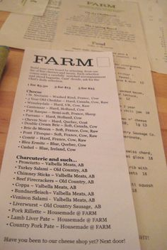 Date night in the city. I've heard Farm is an excellent restaurant. Local as local can be. Calgary Restaurants, Farm Restaurant, Cheese Shop, Canadian Rockies, Banff, Canada Travel, Husband, Rustic, Night