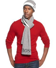 Hugo Boss Green Label Stripe Scarf - Hats, Gloves & Scarves - Men - Macy's