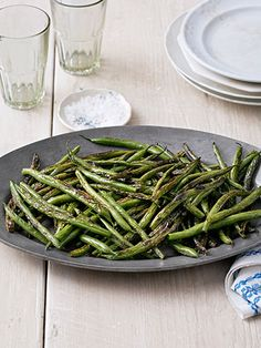 Sesame oil and soy sauce lend these Skillet Green Beans Asian flair.
