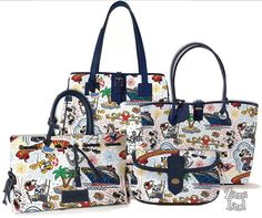 Walt Disney cruise Dooney and Bourke purses.  Have the one on the right from our cruise to Alaska.  It's GORGEOUS!!!