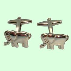 BASSIN AND BROWN - CUFFLINK COLLECTION - DESIGN: ELEPHANT http://www.bassinandbrown.com/cufflinks.html