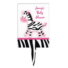 Shop Pink Zebra Cake Topper Cupcake Topper created by PoshPartyPrints. Pink Zebra Cakes, Zebra Baby Showers, Personalized Cake Toppers, Zebras, Cupcake Toppers, Create, Sweet, Candy, Dapple Grey Horses