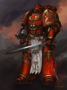 Captain Ventarael of the Blood Blood Angels by Inkary on DeviantArt