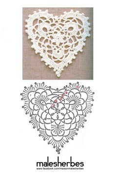 Crochet pattern special valentine (this will not take you to a website! It is the graphic only) Crochet Christmas Ornaments, Crochet Snowflakes, Doilies Crochet, Crochet Snowflake Pattern, Holiday Crochet, Crochet Motifs, Crochet Diagram, Crochet Flowers, Crochet Coeur