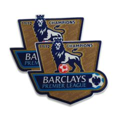 Manchester City 2011/12 English Premier League Champions Fan Badge Set (worn 2012/13)