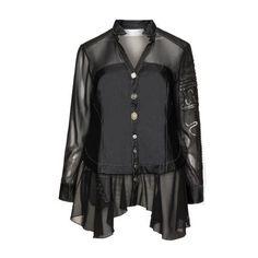 Embellished fabric blend blouse