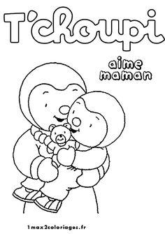 Coloriage tchoupi et doudou a imprimer | Tchoupi | Pinterest