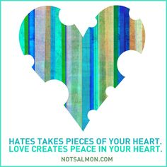 It's all about love, regardless of anything else ... if you love yourself, it's easy to open your heart to others.