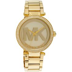 Michael Kors Women's MK5784 'Parker' Goldtone Crystal Accent Watch (1.615 NOK) ❤ liked on Polyvore