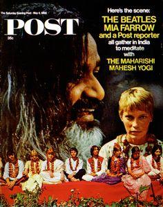 Saturday Evening Post - Beatles & Mia Farrow & Maharishi - 1968.