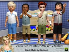 OBJnoora :: Pocket_Shirt_and_Shorts_Outfit_for_Boy_Toddlers