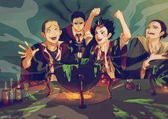 Because apparently Haikyuu! and Hogwarts are things that are absolutely necessary to combine. I figured for now I'll go only for senpais because the uni starts on monday again, and finishing. Kagehina, Nishinoya Yuu, Daisuga, Kuroken, Daichi Sawamura, Kenma, Haikyuu Meme, Haikyuu Fanart, Haikyuu Ships