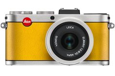 """Best Tech Gifts; Leica X2 """"à la carte"""" digital camera, available in three metal finishes and ten color options for the leather (shown here in silver finish with lemon-yellow leather); from $2,000"""