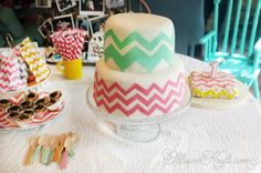 A chevron party theme for the chevron lover in me :)