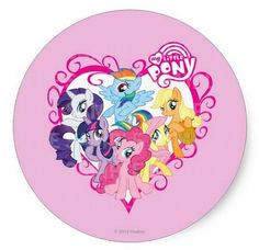 My Little Pony Round Edible Birthday Cake Topper Frosting Sheet Decoration