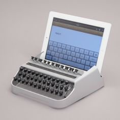 Ipad Discover iTypewriter: Yes Its An iPad Typewriter iTypewriter: Yes! Its An iPad Typewriter. I love it and how it works. Gadgets And Gizmos, Tech Gadgets, Cool Gadgets, Electronics Gadgets, Innovation Design, Business Innovation, Android Ou Iphone, Android Smartphone, Retro Industrial