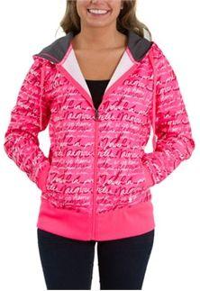 Under Armour Power in Pink Storm Printed Full Zip Hoodie