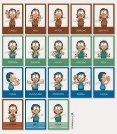 ::: LOS MESES - Juego de Cartas :::     Mazo  de cartas  para aprender Los Meses del A ño .    Características:   cantidad:  44 cartas i... Sign Language, Singing, Teaching, Wattpad, Paper, Learn Sign Language, Words In Sign Language, Vocabulary, Typography Alphabet