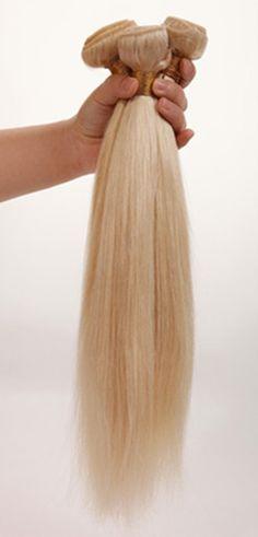 Platinum blonde straight brazilian virgin hair 3 bundles by HAIRONTHEGO on Etsy