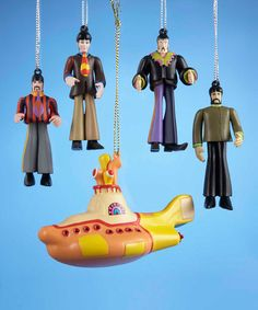 Look what I found on #zulily! Yellow Submarine Hanging Ornament Set #zulilyfinds