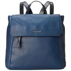 Pre-owned Cole Haan Felecity Backpack ($170) ❤ liked on Polyvore featuring bags, backpacks, blue, leather bags, cole haan bags, cole haan, day pack backpack and leather rucksack