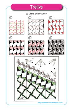 Trellys Tangle, Zentangle Pattern by Debra Bryan