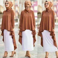 Modern Hijab Fashion, Muslim Women Fashion, Abaya Fashion, Modest Fashion, Fashion Dresses, Hijab Style Dress, Hijab Outfit, Estilo Abaya, Modele Hijab