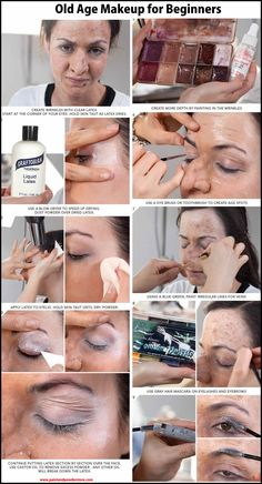 A great tutorial in doing a simplified old age makeup