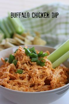 Send your guests home full and happy with this easy Buffalo Chicken Dip recipe!