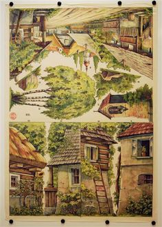 XIII. [Bogen 13, Dorf. Münzberg`s Dekorationen für Familientheater für Puppen 18-25 cm]