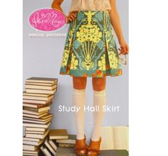 "Cute pleated ""Study Hall Skirt"" - Etsy $15.95 (Anna Maria Horner)"