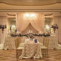 Queen's Landing Grand Georgian Ballroom ~ T-Shape Head Table ~ Simply Beautiful Decor