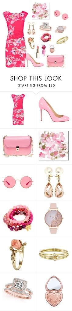"""""""Untitled #692"""" by dkerbyg ❤ liked on Polyvore featuring Christian Louboutin, Valentino, Oliver Gal Artist Co., Ray-Ban, Valentin Magro, Good Charma, Olivia Burton, Vintage, Jennifer Meyer Jewelry and Allurez"""