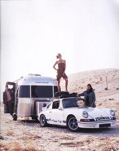 1973 Porsche 911 RS, towing an Airstream(!) #porsche