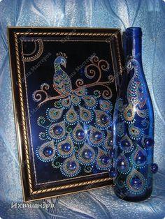 Декор предметов Картина панно рисунок День рождения Роспись Мои любимые точки  Краска Стекло фото 9