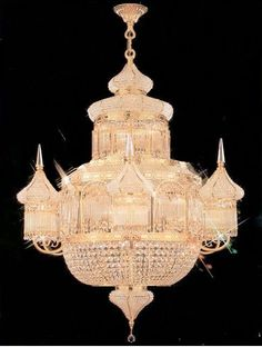 """Moroccan Mosque Crystal Chandelier W 28"""" H 36"""" - A93-624/16 #Penthouses"""