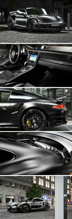 The Porsche 911 Turbo S 'Dark Knight' Is Worthy of Batman