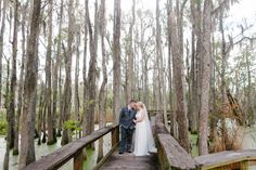 Heather and Kameron's Magnolia Plantation wedding is so sweet! We love the Swamp Garden as a unique setting for portraits!