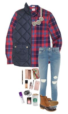 """""""Custom set for Ragan"""" by pandapeeper ❤ liked on Polyvore featuring J.Crew, Frame Denim, L.L.Bean, Lilly Pulitzer, Urban Decay, Maybelline, MAC Cosmetics, H&M and Clarins"""