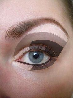 Eye shadow template