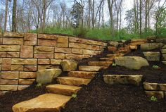 Photos of Residential Landscapes Using Redi-Rock Retaining Walls