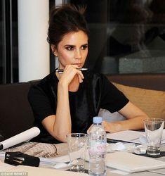 Victoria Beckham - At work. Black attire. Simplicity. Classic. GV