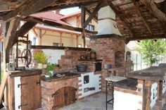 Sobral Adalbert says he does not want to autoplagise, so he grills and unique summer kitchens Backyard Pavilion, Garden Gazebo, Backyard Kitchen, Summer Kitchen, Outdoor Oven, Outdoor Cooking, Bbq House, Outdoor Living, Outdoor Decor
