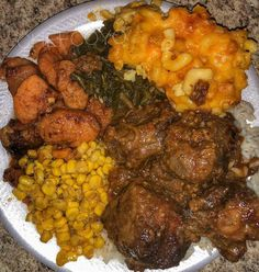 Dickens Rd 12 Noon Savory Slow Braised Tender Ox-Tails Creamy Baked Mac & Cheese Certified Candid Yams Fresh Tasty Green Beans Rice w/ Homemade Gravy Coyo Buttered Croissantragon) Plat Simple, Food Goals, Food Cravings, I Love Food, Big Food, Food For Thought, Food Dishes, Food To Make, Food Porn