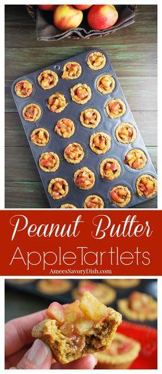 Peanut Butter Apple Tartlets