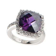 Silber Damenring Precious Purple erhältlich unter www.couture-jewels.at Silberschmuck Heart Ring, Engagement Rings, Jewels, Couture, Fashion, Bangle Bracelet, Earrings, Silver Jewellery, Chain