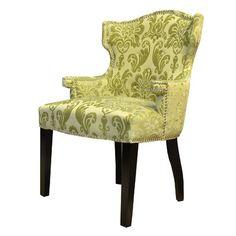 HD Couture Brittania Fan Damask Wingback Chair & Reviews | Wayfair