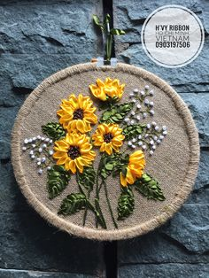 Wonderful Ribbon Embroidery Flowers by Hand Ideas. Enchanting Ribbon Embroidery Flowers by Hand Ideas. Ribbon Embroidery Tutorial, Hand Embroidery Stitches, Silk Ribbon Embroidery, Hand Embroidery Designs, Embroidery Hoop Art, Embroidery Patterns, Embroidery Supplies, Ribbon Art, Ribbon Crafts